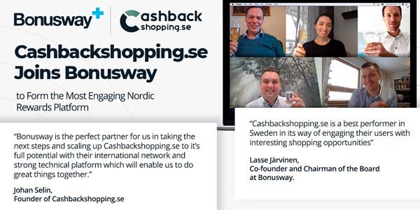 Lexia toimi Bonuswayn neuvonantajana ruotsalaisen Cashbackshopping.se:n yrityskaupassa